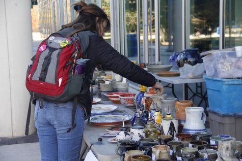 Southeastern Ceramics Club hosted holiday sale on campus on Dec. 2 and 3 to raise fund for the organization and to promote members' talent.
