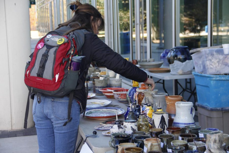 Southeastern Ceramics Club hosted holiday sale on campus on Dec. 2 and 3 to raise fund for the organization and to promote members talent.