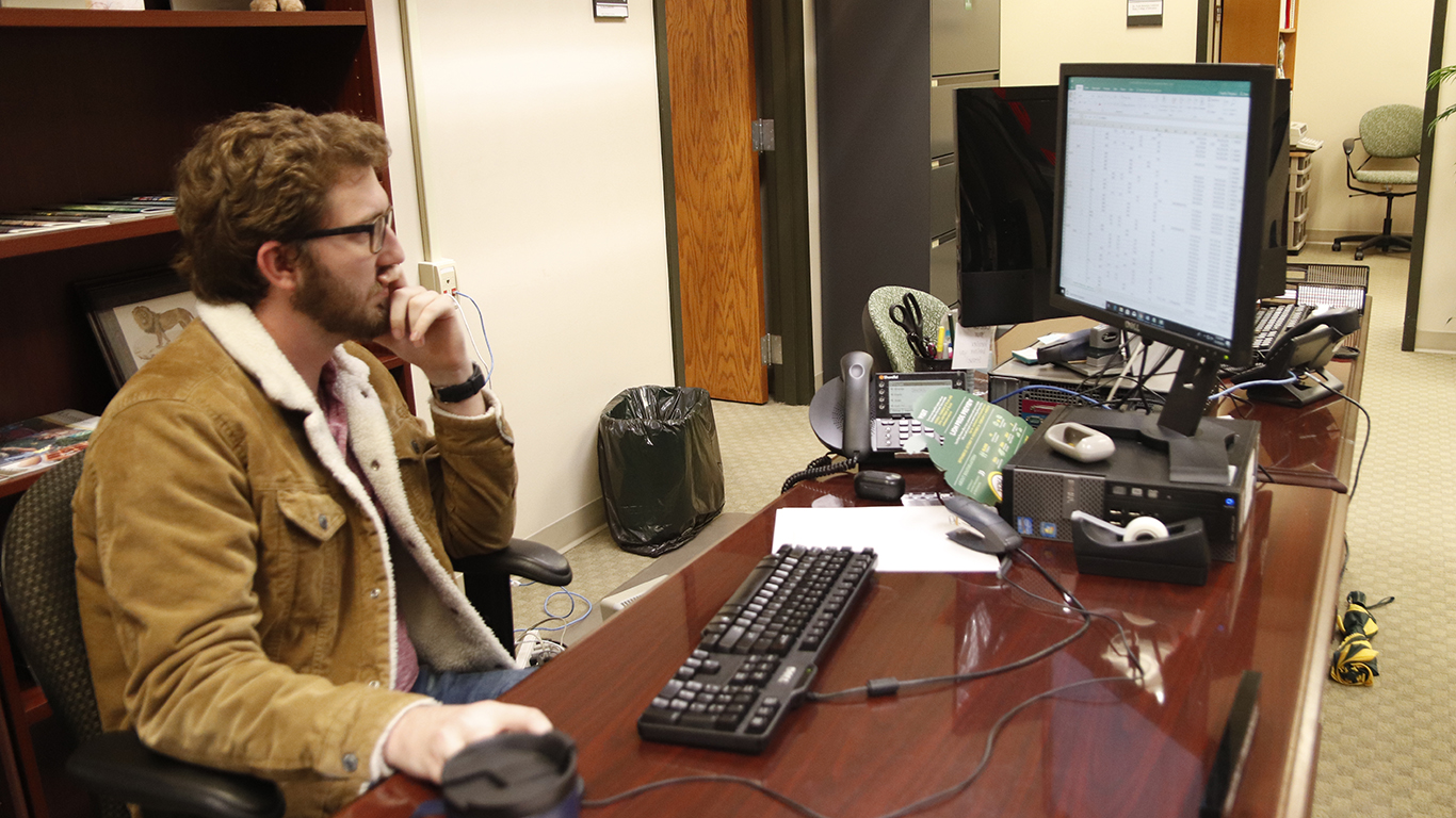 Having interned at Louisiana Farm Bureau Insurance for two years, Timothy Thibodaux, a student in the MBA program, now works as a graduate assistant for the College of Education.