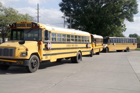 While students complete coursework through online classes, buses and schools alike sit unused at Dutchtown High School.