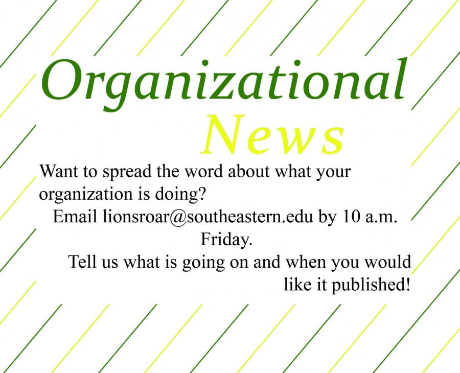 Organizational News: March 10, 2020 Issue