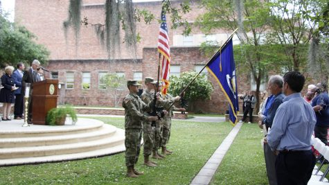 The university ROTC program is aiming to recruit new members. Contracts and scholarships are available for members, as well as opportunities to take military-based classes.