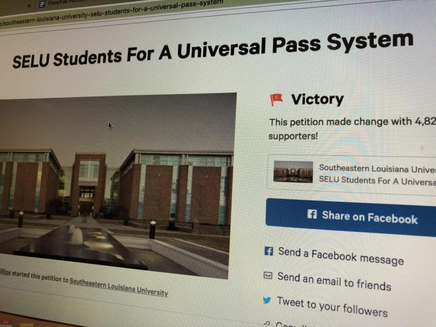 Freshman marketing major Anyree Phillips created a petition for the university to go to a pass/fail system after she noticed some flaws in the online courses. The petition had over 4,000 signatures in three days.