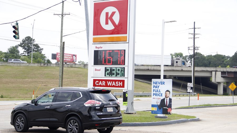 A Circle K gas station off of I-12 in Baton Rouge displays its gas prices. Gas stations around the country post prices under 2 dollars as the price of crude oil reaches historic lows.
