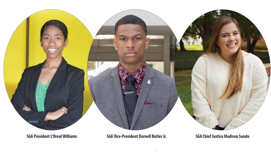 The winners of the SGA election will serve as the Big 3 for the 2020-2021 school year.