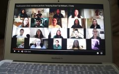Members of the university's Women's Chorale and Concert Choir perform Amazing Grace online. The video was uploaded by Dr. Alissa Rowe, director of choral activities, in her YouTube channel.