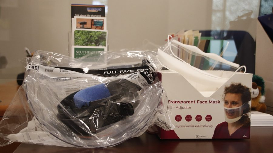 Clear masks and face shields are available through the Office of Student Accessibility Services in Tinsley Hall. Students must provide documentation of a disability in order to receive a Face Covering Exemption Card
