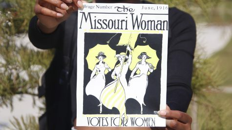 A women's suffrage poster from 1916. The 19th Amendment was ratified in 1920, granting voting rights to citizens regardless of their sex.