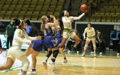 Breonca Ducksworth totaled 14 points in the loss to McNeese State University. Ducksworth is a transfer guard from Jones Community College in Mississippi.