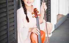 Alana Saenz, an 11-year-old musician, is the youngest member of the SLU Symphony Orchestra.
