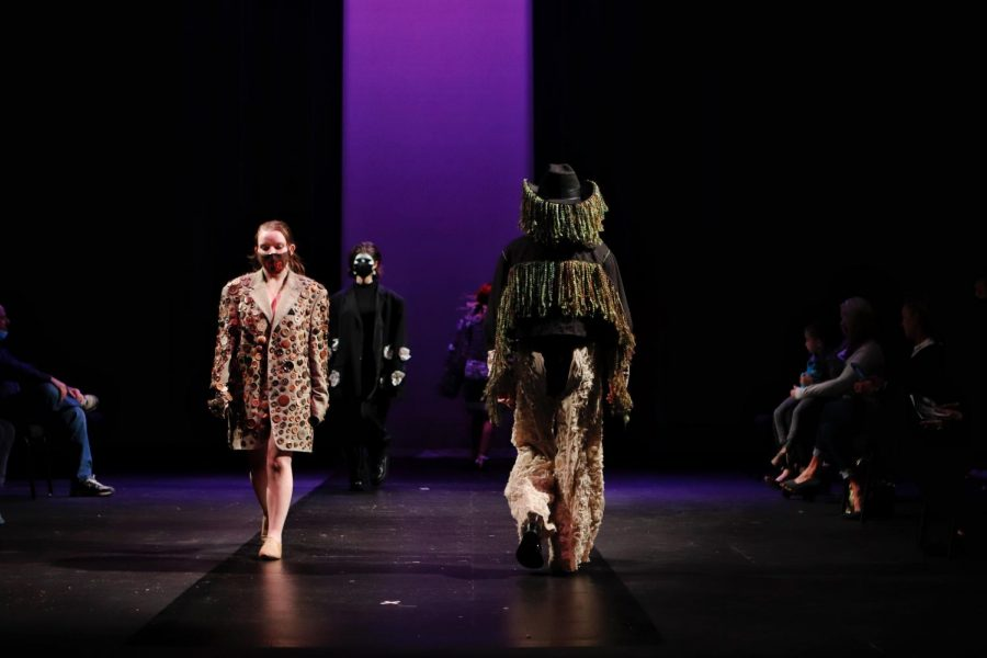 The Wearable Art Fashion Show consisted of nine one-of-a-kind looks.  Once each model walked, the audience voted on their favorite look of the night.