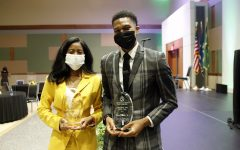 L'Oreal Williams and Darnell Butler Jr. were awarded the 2021 Outstanding Woman and Man of the Year awards at the 40th annual DSA Student Awards Convocation.