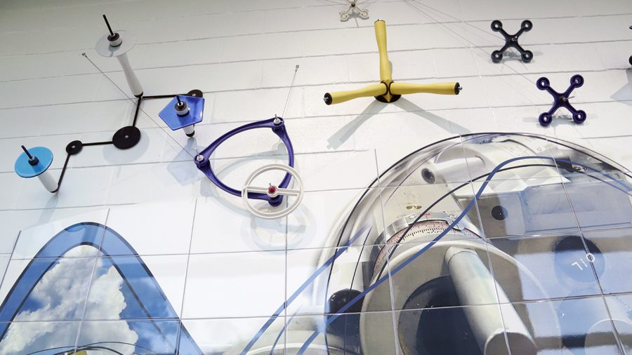 The new art installations located in the Computer Science and Technology Building were designed to initially display their engineering.