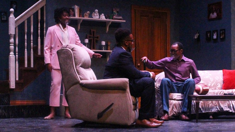 """""""Dark Skinned Pavement,"""" which was presented at the Vonnie Borden Theatre April 27-30, provides insight into the lives of a Black American family who lost their son to police brutality. Written by TJ Young, the play features an all-Black cast."""