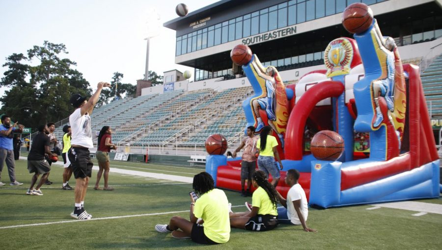 In August 2019, the Strawberry Jam pep rally in Strawberry Stadium allowed new and returning students experience Lion Pride while playing games, winning prizes and enjoying food. Strawberry Jam is scheduled to make a comeback for this years Welcome Week on Tuesday, Aug. 17 at 6 p.m. in Strawberry Stadium.