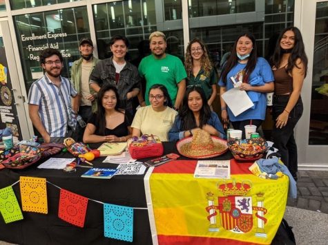 The Spanish Club talks to students about cultural knowledge with their booth at the Day in the Park event that took place on Sept. 30. Top left to right: Zachary McCray, Bryant Paul Fontenot, Ruben Pereyra, Juan Castro, Sharon Ortiz, Teresa Huerta, Emily Petit. Bottom left To right: Kathery Esqueda, Zaira Martinez and Vanessa Hernandez.